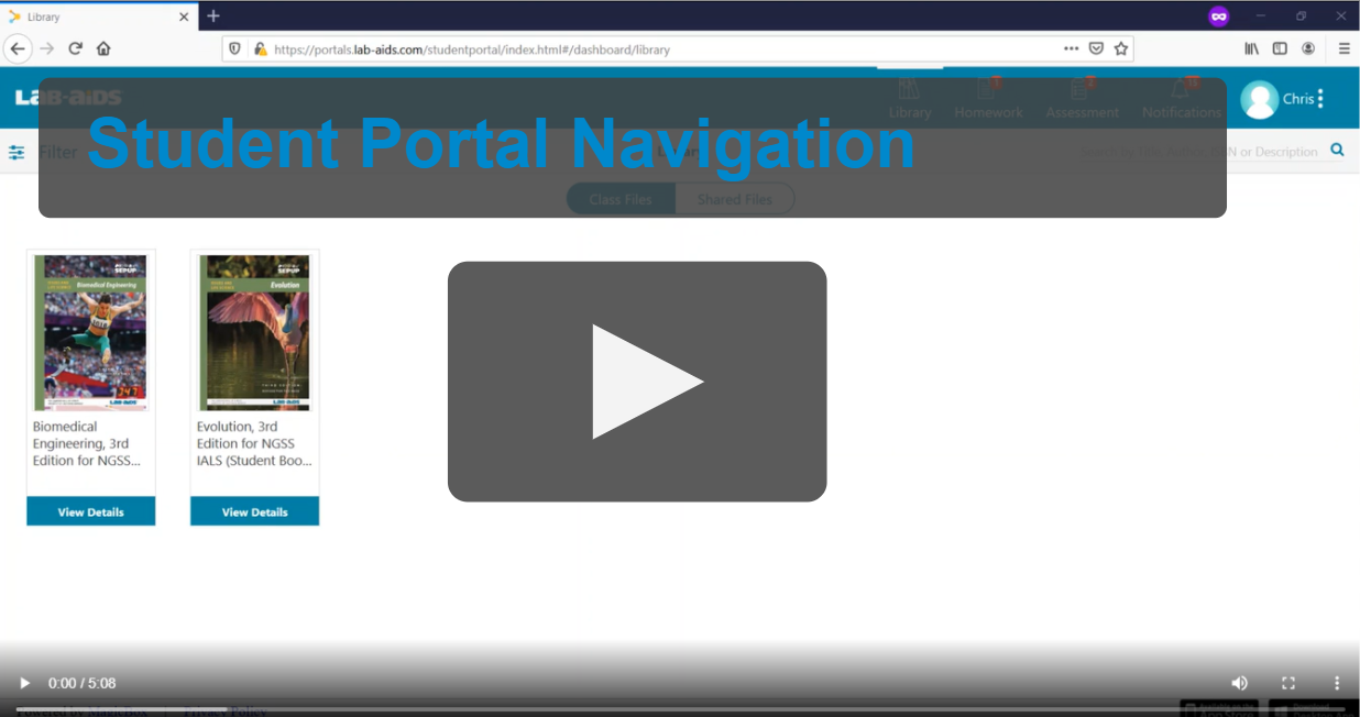Click here for student portal navigation